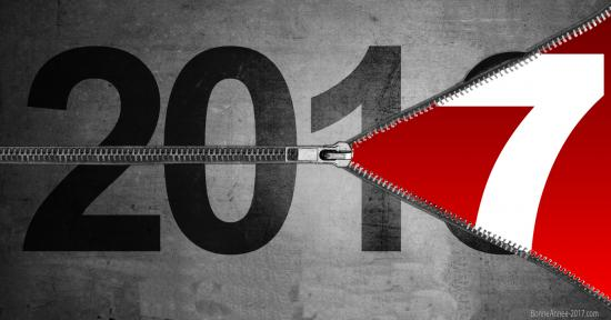 Bonne annee 2017 fermeture glissiere