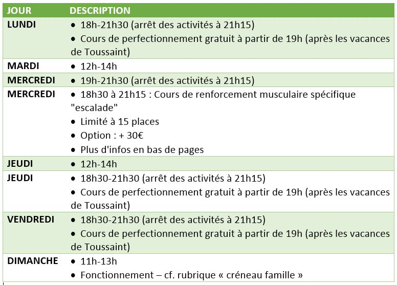 Planning adulte 3